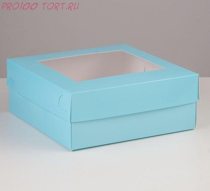 Коробка для капкейков, 25 х 25 х 10 см, на 9 капкейков, с окном