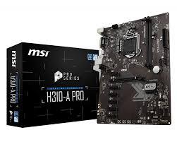 Материнская плата MSI H310-A PRO LGA1151