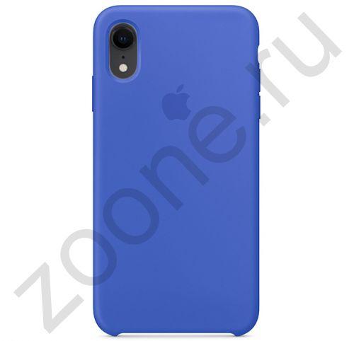 Серо-синий силиконовый чехол для iPhone XR Silicone Case