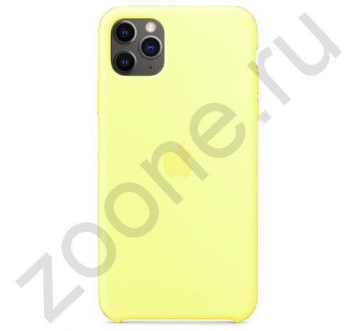 Чехол для iPhone 11 Pro Silicone Case силиконовый лимонный