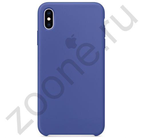 Силиконовый чехол цвета синей стали для iPhone XS Max Silicone Case