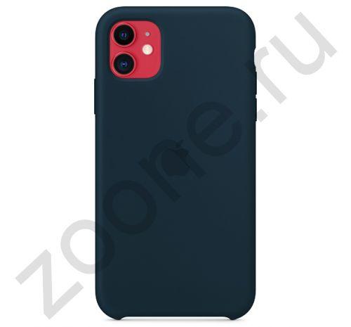 Чехол для iPhone 11 Silicone Case силиконовый цвета дымчатой сосны
