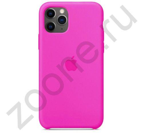 Чехол для iPhone 11 Pro Silicone Case силиконовый неоново-розовый