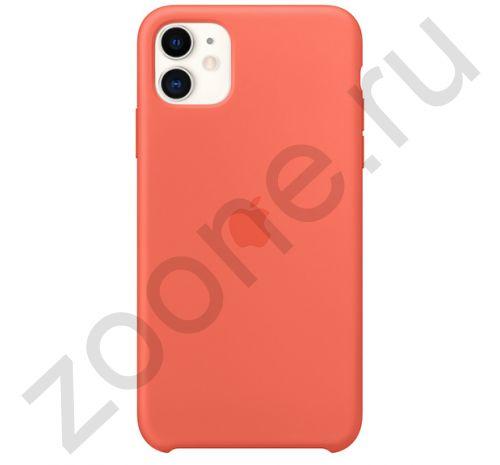 Чехол для iPhone 11 Silicone Case силиконовый оранжевый