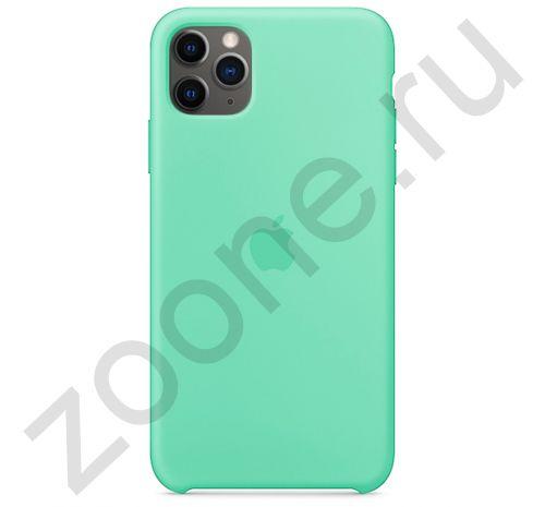 Чехол для iPhone 11 Pro Max Silicone Case силиконовый зеленое яблоко