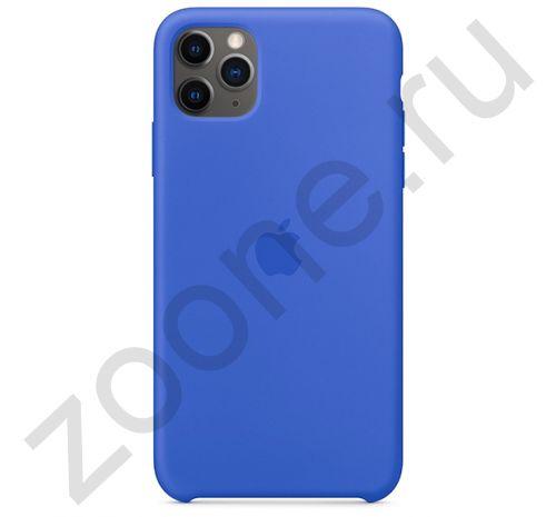 Чехол для iPhone 11 Pro Max Silicone Case силиконовый синий