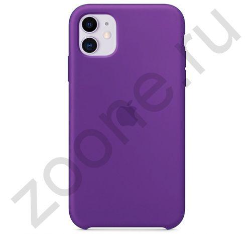 Чехол для iPhone 11 Silicone Case силиконовый фиолетовый