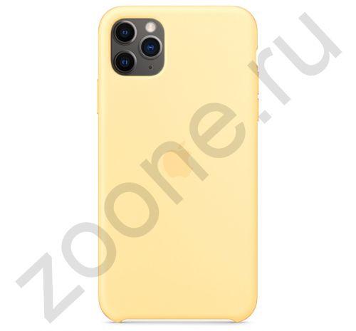 Чехол для iPhone 11 Pro Silicone Case силиконовый желтый