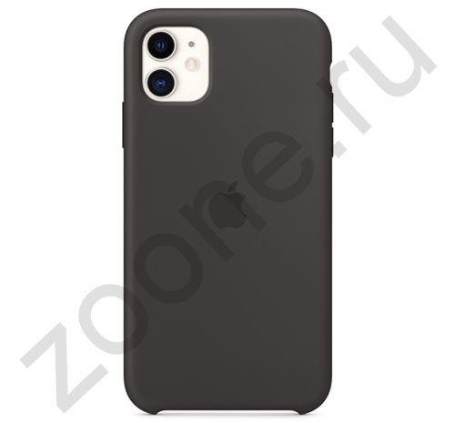 Чехол для iPhone 11 Silicone Case силиконовый черный