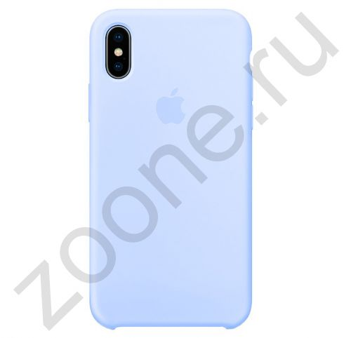 Бело-голубой силиконовый чехол для iPhone X/XS Silicone Case