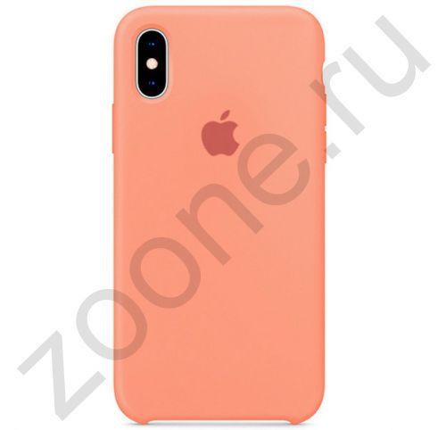 Лососевый силиконовый чехол для iPhone X/XS Silicone Case