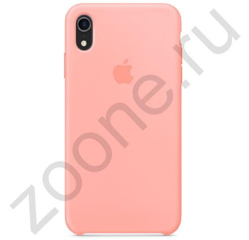 Лососевый силиконовый чехол для iPhone XR Silicone Case
