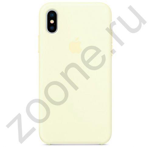 Силиконовый чехол цвета дыни для iPhone XS Max Silicone Case