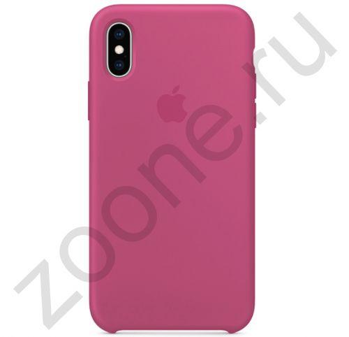 Силиконовый чехол цвета орхидеи для iPhone X/XS Silicone Case