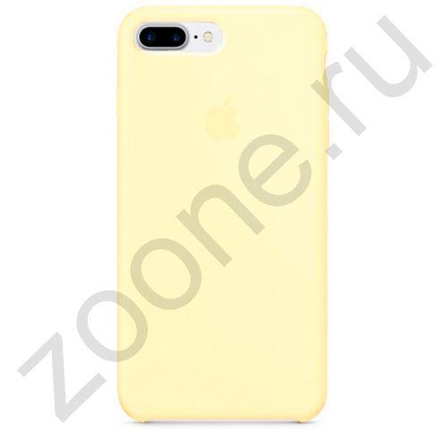 Желтый матовый силиконовый чехол для iPhone 7/8 Plus Silicone Case