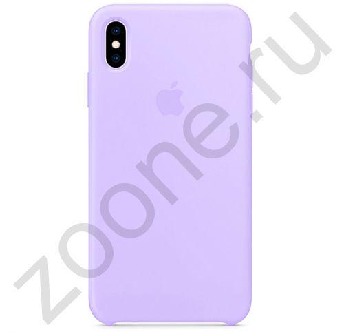 Фиалковый силиконовый чехол для iPhone XS Max Silicone Case