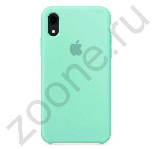 Аквамариновый силиконовый чехол для iPhone XR Silicone Case