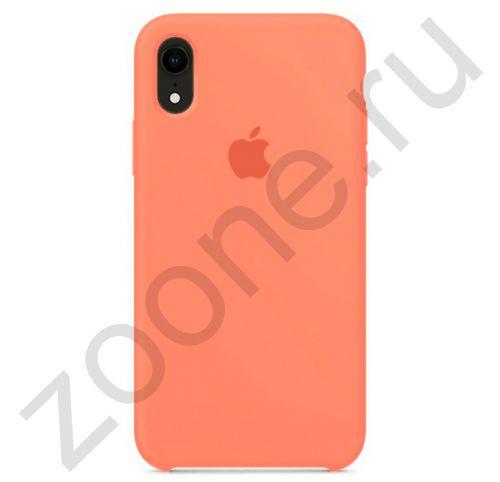 Персиковый силиконовый чехол для iPhone XR Silicone Case