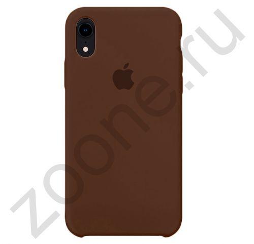 Коричневый силиконовый чехол для iPhone XR Silicone Case