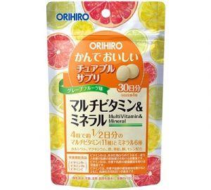 ORIHIRO Мультивитамины и минералы на 30 дней (вкус грейпфрута)
