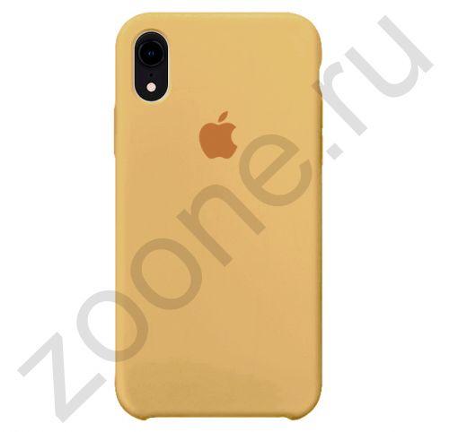Светло-коричневый силиконовый чехол для iPhone XR Silicone Case