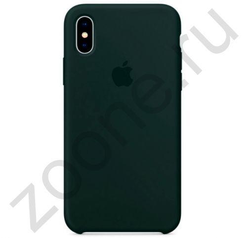 Силиконовый чехол цвета дымчатой сосны для iPhone XS Max Silicone Case