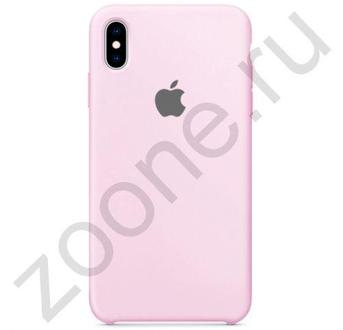 Бело-лиловый силиконовый чехол для iPhone XS Max Silicone Case