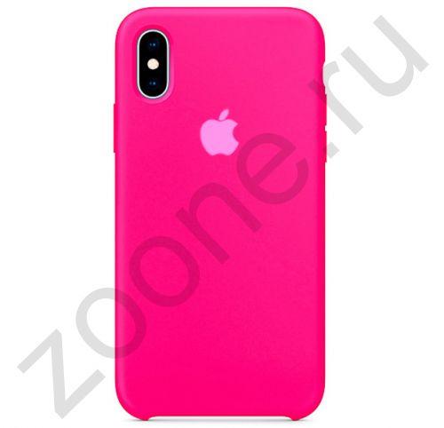Неоново-розовый силиконовый чехол для iPhone XS Max Silicone Case
