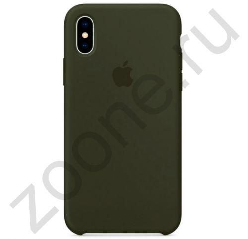Силиконовый чехол цвета Хаки для iPhone XS Max Silicone Case
