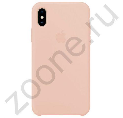 Жемчужно-розовый силиконовый чехол для iPhone XS Max Silicone Case