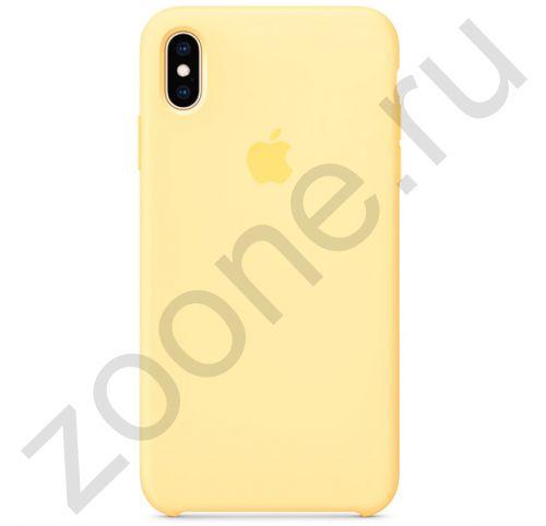 Желтый силиконовый чехол для iPhone XS Max Silicone Case