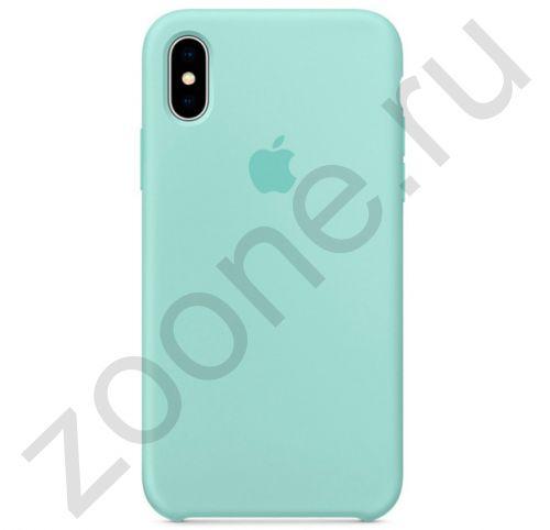Бирюзовый силиконовый чехол для iPhone XS Max Silicone Case