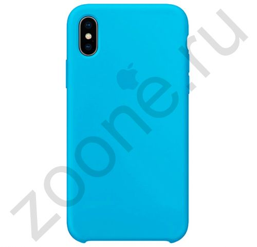 Голубой силиконовый чехол для iPhone XS Max Silicone Case