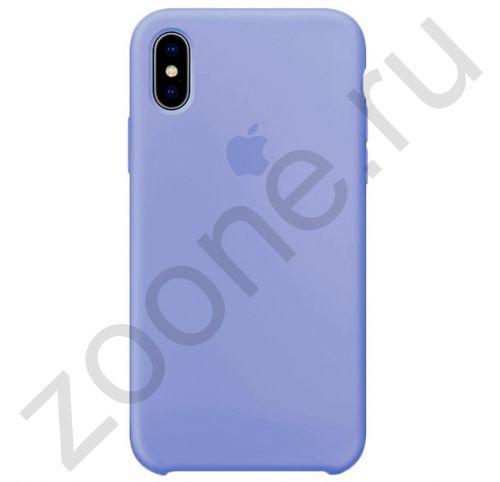 Светло-синий силиконовый чехол для iPhone XS Max Silicone Case