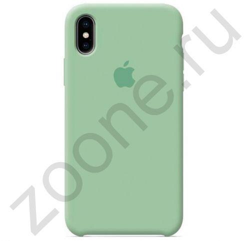 Мятный силиконовый чехол для iPhone XS Max Silicone Case