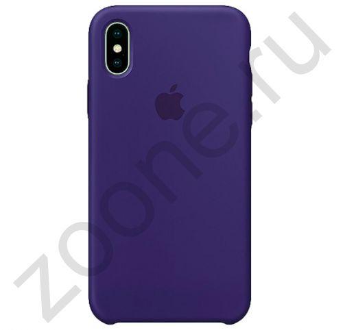 Темно-пурпурный силиконовый чехол для iPhone XS Max Silicone Case