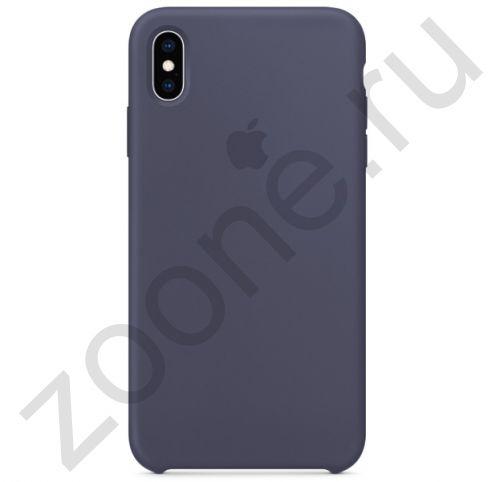 Темно-серый силиконовый чехол для iPhone XS Max Silicone Case