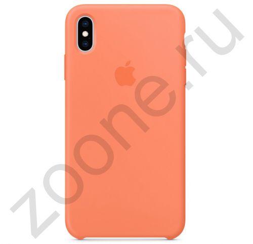 Оранжевый силиконовый чехол для iPhone XS Max Silicone Case