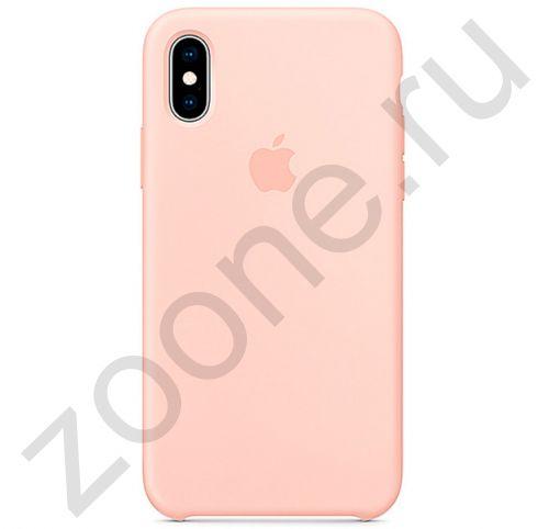 Пудровый силиконовый чехол для iPhone XS Max Silicone Case