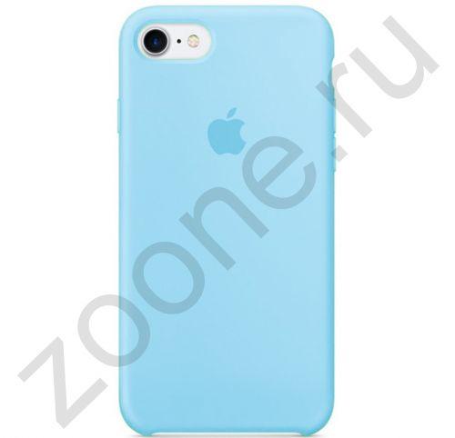 Аквамариновый силиконовый чехол для iPhone SE/8/7 Silicone Case