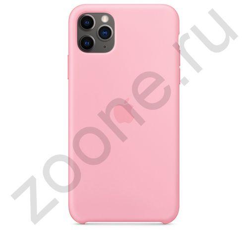 Чехол для iPhone 11 Pro Max Silicone Case силиконовый нежно-розовый