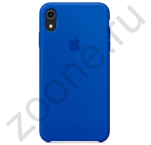 Королевский синий силиконовый чехол для iPhone XR Silicone Case