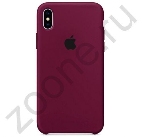 Сливовый силиконовый чехол для iPhone XS Max Silicone Case