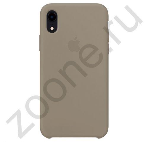 Светло-серый силиконовый чехол для iPhone XR Silicone Case