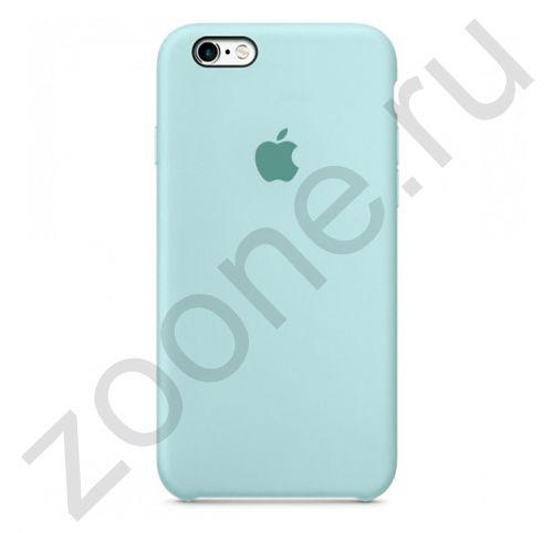 Бело-голубой силиконовый чехол для iPhone 6/6S Silicone Case