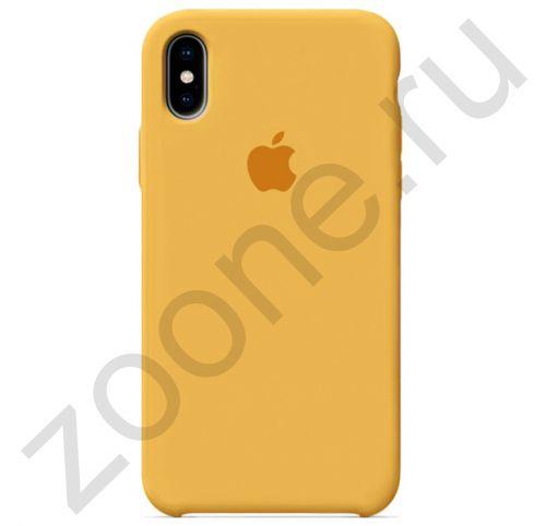Горчичный силиконовый чехол для iPhone XS Max Silicone Case