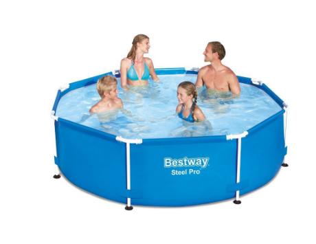Каркасный круглый бассейн Bestway 244х76 см (3032л) с картриджным фильтр-насосом 1249 л/ч