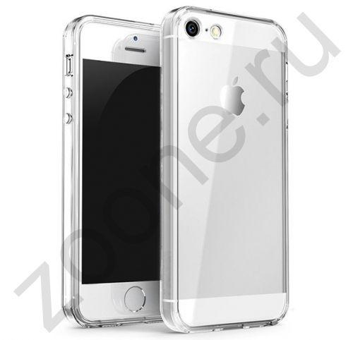 Прозрачный силиконовый чехол-накладка для iPhone 5/5s Transparent Case