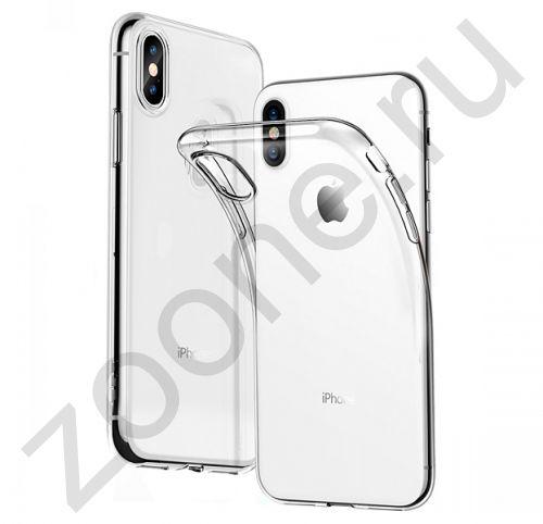 Прозрачный силиконовый чехол для iPhone XS Max Transparent Brauffen Case