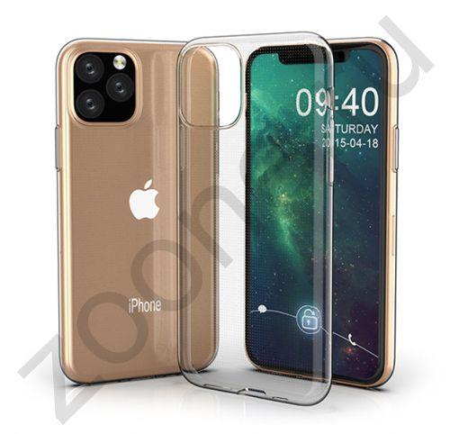 Чехол для iPhone 11 Pro Max силиконовый прозрачный